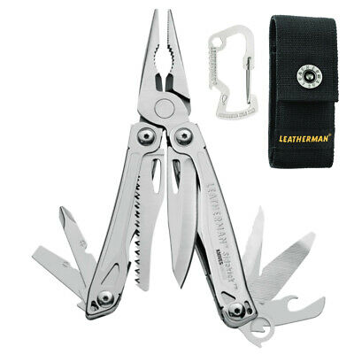 Leatherman Sidekick Std Stainless Steel Multi-Tool Knife +  Sheath + Carabiner
