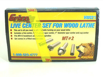 Grizzly Industrial - Live Center Set For Wood Lathe - H8021 - MT#2 - New!