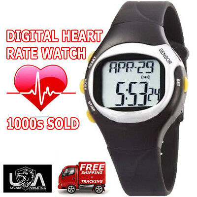 HEART RATE SPORTS DIGITAL WATCH / calorie counter / pulse monitor / stop watch