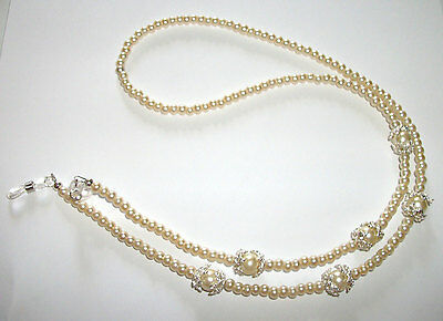 """#regal# Glasses Chain 26"""" Silver Chain Ladies Eyewear Sparkly Retainer Party"""