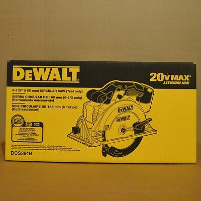"Brand New DEWALT DCS391B 20V MAX Li-Ion Cordless 6-1/2"" Circular Saw (Tool Only)"
