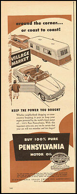 1950's Vintage ad for Pennsylvania Motor Oil  (063012)