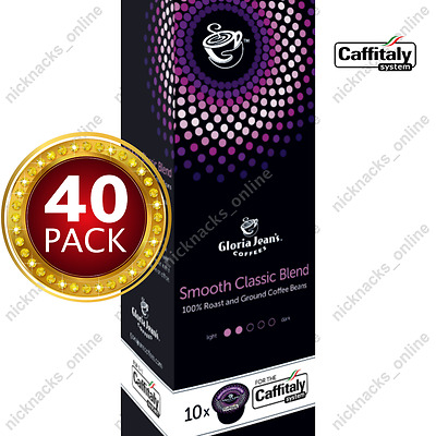 40 Capsules Gloria Jeans Coffee Smooth Classic Blend Pods Caffitaly System