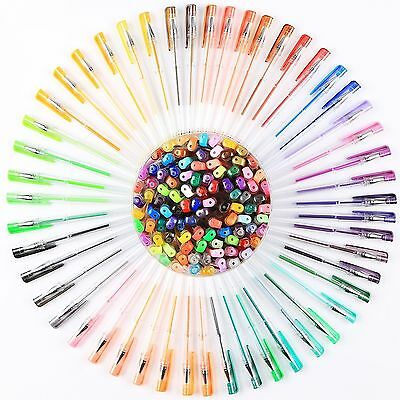 60 Colors Set Gel Pens Art Drawing Marker Classic Glitter Neon Metallic AU Stock