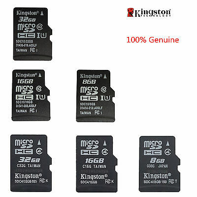 Kingston MICROSD SDHC 8gb/16gb/32gb Tf C4/C10 Speicherkarte Memoria F Tablet
