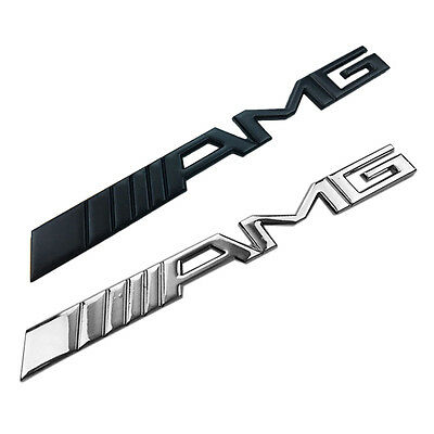 3D Chrome Car Trunk Tailgate Racing Badge Decal Metal Sticker AMG Emblem Sticker