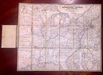 "1850 Travel Guide of The U.S., Only Map Depicting ""The Mormon State of Deseret"""