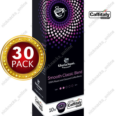 30 Capsules Gloria Jeans Coffee Smooth Classic Blend Pods Caffitaly System