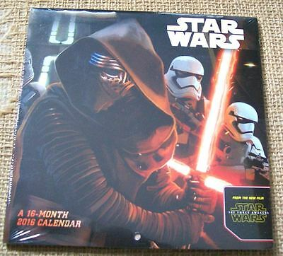 Star Wars Episode VII The Force Awakens Mini Calender, 2016 NEW and Sealed