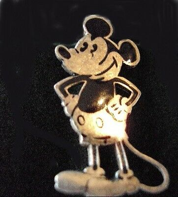 Rare Vintage Mickey Mouse 1930 Charles Horner Silver Pin Badge  30mm high