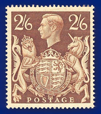 1939 SG476 2s6d Brown Fine Unmounted Mint (MNH) Cat £95 aazq