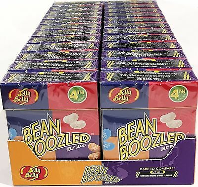 BOX OF 24 x 45g BOXES OF BEAN BOOZLED JELLY BEANS, WEIRD AND WILD FLAVOURS! USA