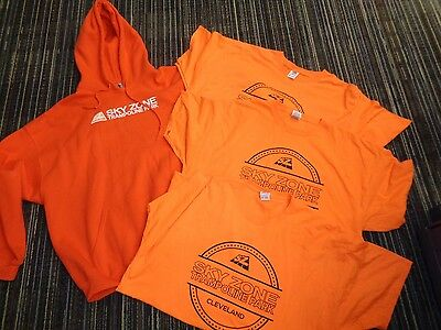 Lot 4-Sky Zone Trampoline Jumping Park Orange Glow Fly Safe T-Shirts Sweatshirt