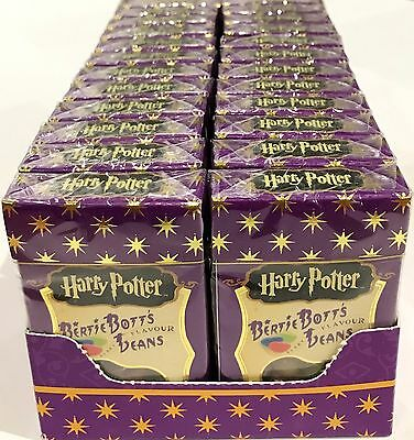 BOX OF 24 x 35g BOXES OF HARRY POTTER BERTIE BOTT'S JELLY BEANS, EVERY FLAV. USA