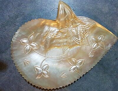Carved oyster shell