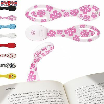 Book Light for Reading in Bed Clip on LED Reading Light Bookmark Pink Flowers