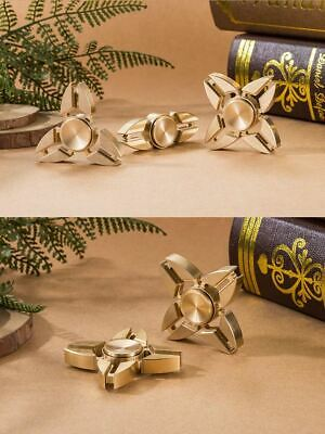 Brass/alloy Fidget Hand Spinner Finger Gyro Toy EDC Focus Stress Reliever Autism