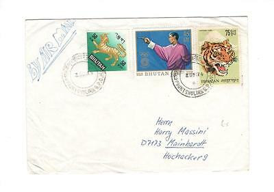 a223 Bhutan cover to Germany