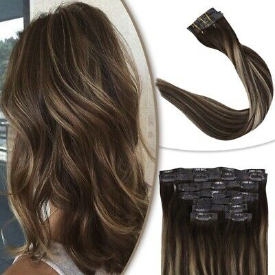 Full Shine Seamless Clip In Hair Extensions Human Hair Color 18 Ash