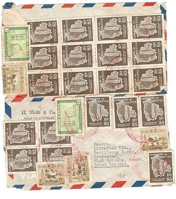 a224 Bolivia cover to UK