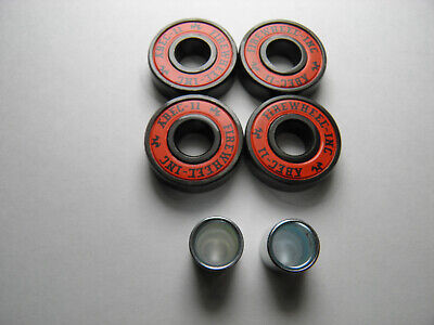 4 x ABEC 11 SCOOTER SKATEBOARD BEARINGS *NEW* RED SHIELDS
