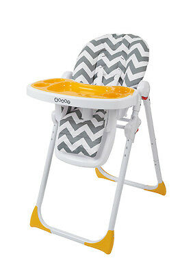 4Baby Diner High Chair - Zig Zag Grey