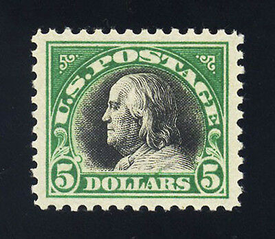 #524, $5.00 Franklin, Superb-OG-NH, sound, 2008 PSE (98, nh), 2017 SMQ is $2,650