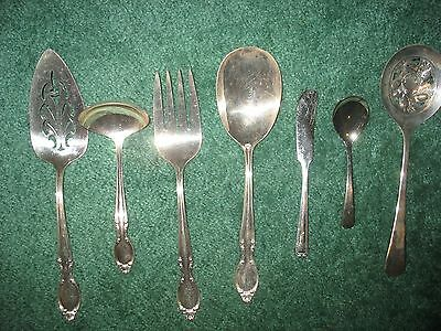 Wm. Rogers Sheffield Lot of 7 Silver Plated Items