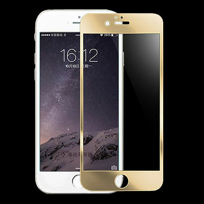 3D Curved Gold Full Cover Tempered Glass Screen Protector For iPhone 6s
