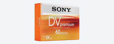 3 Sony MiniDV DVM 60 Premiun Camcorder tapes  Plus 1  Sony Head Cleaning Tape