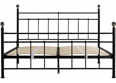 Piper / Natalie Metal Bed in Black - Double - Double Metal Bed Frame