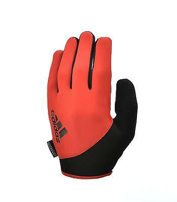 Adidas Essentials Gloves Gym Weight Lifting Workout Medium Orange