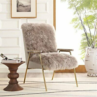Modway Sprint Wool Arm Chair in Brown