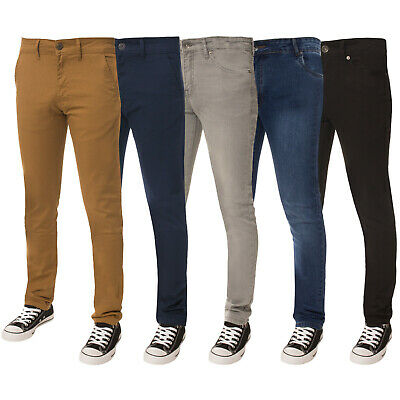 Enzo Designer Boys Kids Skinny Stretch Chinos Jeans Slim Fit Trousers Pants