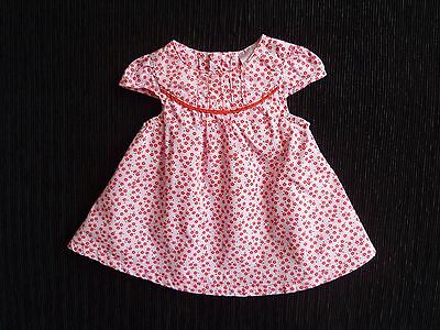 Baby clothes GIRL Newborn 0-1m<11lbs/5kg pink/red floral short sl cotton dress