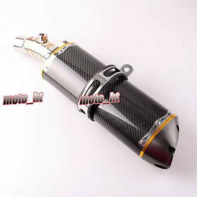 For Kawasaki 2009 2010 ER6N Carbon Fiber Exhaust Muffler Silencer