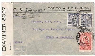 a236 Brazil  Airmail cover to Emmenthal examiner 8097