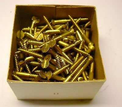 Reed and Prince Brass Wood Screws #6 1.25 inch 140