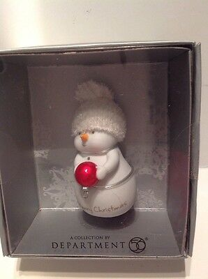 Dept. 56  Christmas' Snowman Merry Christmas  - New 2010 Old Stock