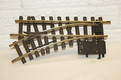 G scale 45mm GOOD/XCELLENT LGB 1200 Small Radius Left ELECTRIC Point GOOD MOTOR