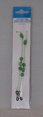 "Greenbrier International 26"" Beaded Eyeglass Cord - New - Green"