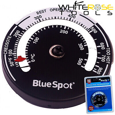 BlueSpot Stove Pipe Thermometer Wood Burner Flue Temperature Monitor Soot