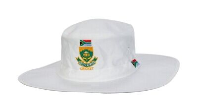 HIGH QUALITY WHITE CRICKET SUNHAT WITH WEST INDIES CRICKET LOGO L//X MENS 59-60CM