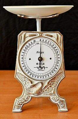 Antique, Shabby Chic, Vintage, Old German Kitchen Scale - WHITE SWAN