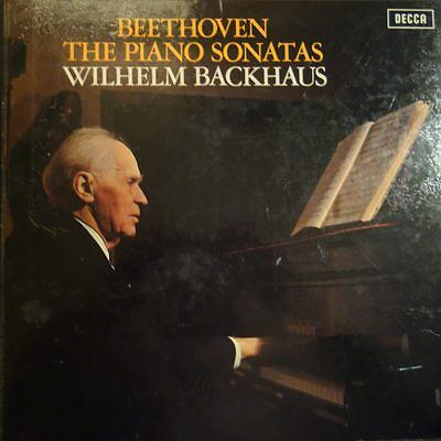 SXLA 6452/61 Beethoven Piano Sonatas / Wilhelm Backhaus 10 LP box set