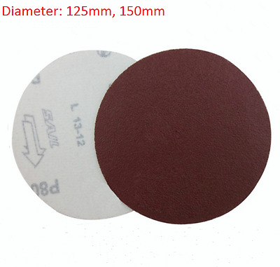 125mm 150mm Hook And Loop Sanding Disc Abrasive Sand Paper Pads 80 - 1000 Grit