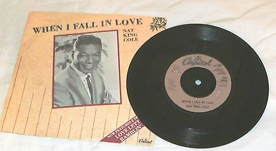 """Nat King Cole, When I Fall In Love 3 Track 7"""" Vinyl Single In Good Condition"""