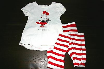 GYMBOREE Girls OLIVIA THE PIG Shirt and Leggings OUTFIT Set of 2 SIZE 5