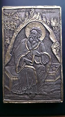 Silver icon of the prophet Elijah