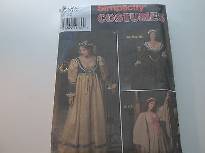 sewing pattern Simplicity costume collection #8192 sz D 4,6,8 1998